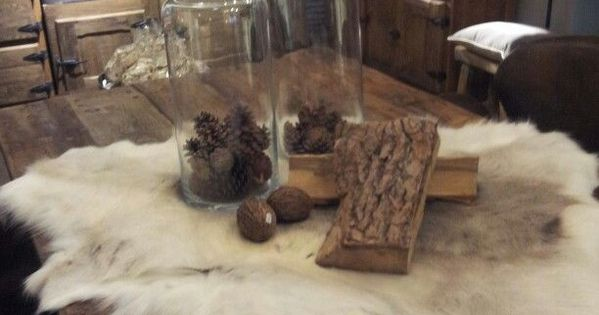 Vacht op tafel living rooms pinterest decoration interiors and chalet style - Deco chalet hout ...