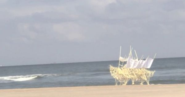 they will walk forever ...Strandbeest