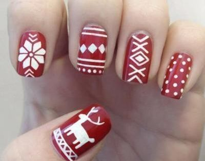 Christmas Sweater inspired nails nailsart nailsdesings DIY