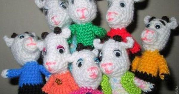 Skazka Volk I Semero Kozlyat Zakazat Na Yarmarke Masterov 3p73tru Kukly I Pupsy Oktyabrskij Crochet Hats Finger Puppets Crochet Toys