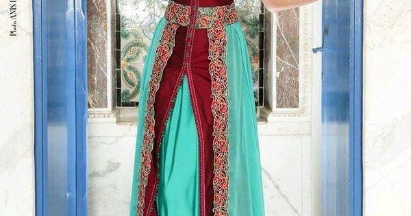 Epingle Par Nora Nour Sur Coupe Et Couture Robe Caftan Tunisien Robe Caftan