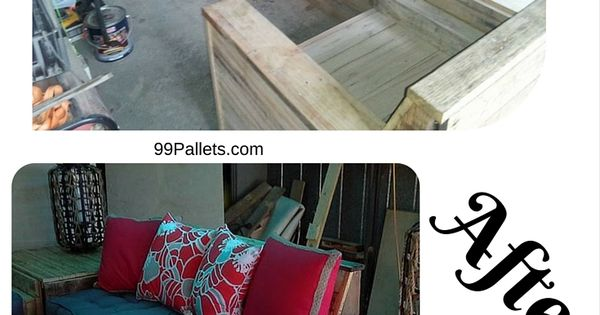 DIY Pallet Sofa Set   Homemade #Sofa For Your Living Room Or Patio  Furniture Just Get All From 100% Recycled Pallets! April 3, 2017 At 11:40PM  | BAGOES TEAK ...