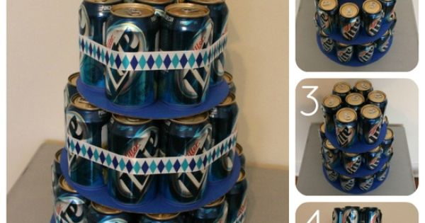 "beer can ""cake"" what a great idea for guy birthdays just use"