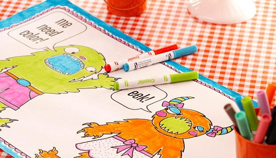 Monster Coloring Pages :You provide the materials and your little guests can