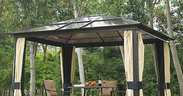 Outsunny Gazebo Outdoor Furniture Canopy Patio Garden Yard Shelter Tent Hardtop Patio Canopy Patio Gazebo Canopy Outdoor