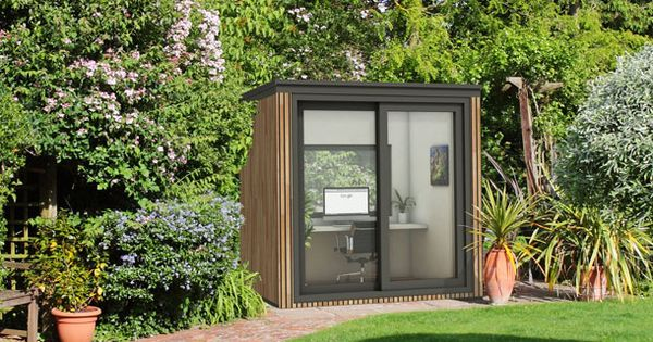 Small garden office eden garden rooms tuinhuizen for Cedar garden office