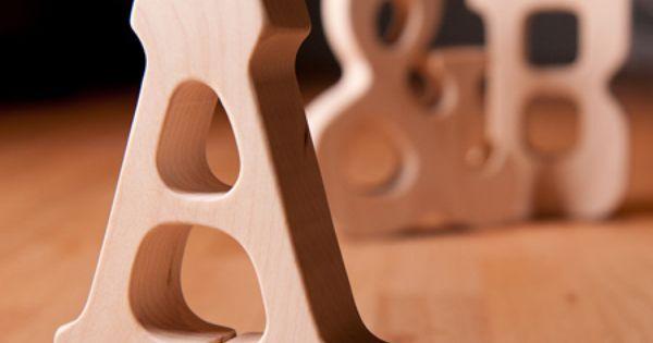 Alphabet wooden letters