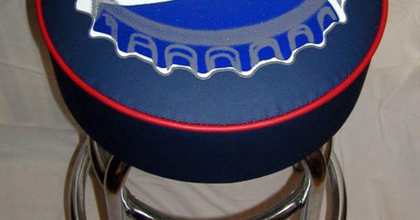 Pepsi Pepsi Cola Soda Bottle Cap Sign Bar Stool Pepsi