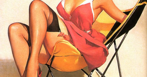 Vintage pin up girl art. pinup