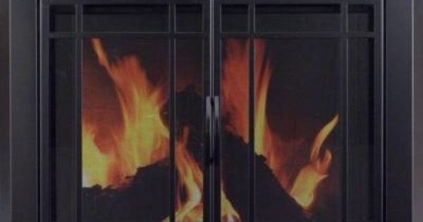 Pleasant Hearth Easton Large Glass Fireplace Doors Ea 5012 Glass Fireplace Fireplace Glass Doors Fireplace Doors