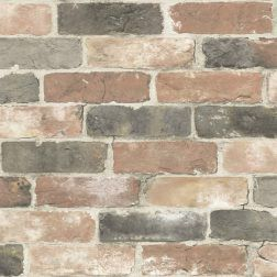Temporary Wallpaper Shopping Guide Peel And Stick Wallpaper Comes In A Variety Of Colors And Patterns Here Are Nuwallpaper Brick Wallpaper Rustic Wallpaper
