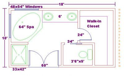 Small Master Bath Floor Plan Bathroom Floor Plans Free Floor Plan For A 10x18 Master Bath Addition Small Master Bath Bathroom Floor Plans Bathroom Plans