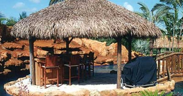 tiki hut gazebo style square can be built as a kit to anywhere nationwide suncoast tiki huts any size any shape anywhere - Tiki Hut