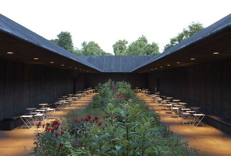 Serpentine Gallery Pavillion. London. 2011. Pavillion designed by Peter Zumthor, photographed by