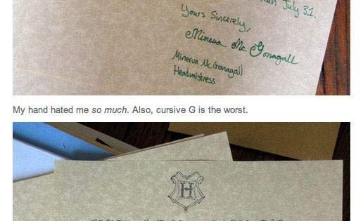 Friends, if I send you Hogwarts letters, I better get stuffed owls