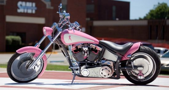 """Fight Like a Girl"" Pink harley Motorcycle!"