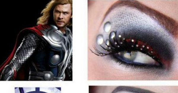 That would be EPIC! Marvel's The Avengers Superhero-Themed Eye Shadow Makeup Designs
