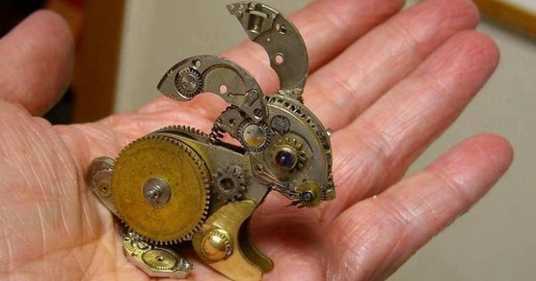 Unique Tiny Sculptures Made From Old Watch Parts Unique Tiny Sculptures Made