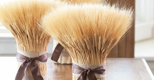 Décoration dautomne naturelle - 14 idées en épis de blé  Deko ...