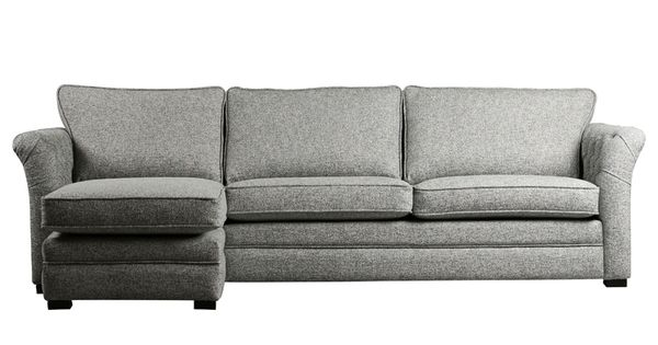 Meubitrend hoekbank bank relaxt sofa stijl design lounge stof leder modern klassiek - Moderne stijl lounge ...