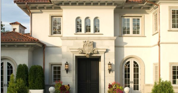 Natural white stucco exterior paint colors pinterest for White stucco mediterranean house