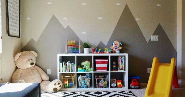 Playroom Ikea Target Mountain Mural Cloud Vinyl Decal