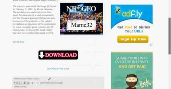 How To Download Mame32 With Neogeo Pc Games Zoya7498 With Images