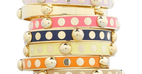 Bangle Bracelets - Dancing Dots Enamel Bangle | C. Wonder