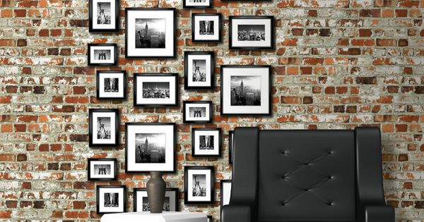 papier peint briques recherche google chouette. Black Bedroom Furniture Sets. Home Design Ideas