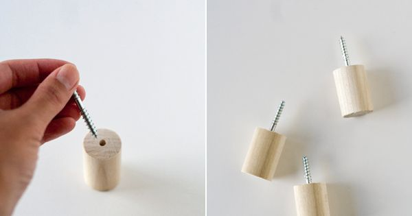 DIY Wall Hooks by Ambrosia Creative. Love this simple idea with wine