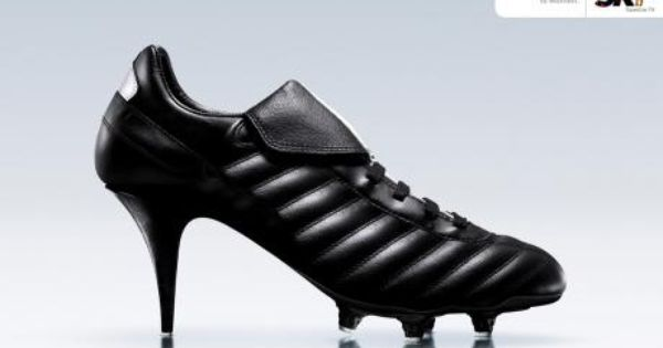 High heeled cleats something Holly would have worn to play a sport