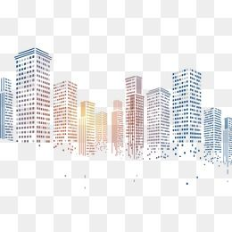 Geometric Squares Particles Pixelated City Building Creative Poster Design Free Graphic Design Photoshop Design