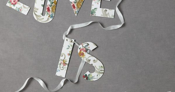 DIY Love Is Sweet Bunting