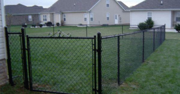 Black Chain Link Fence For Our Dog Yard Diy Dog Fence