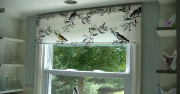 Tablecloth into curtain dwellstudio birds kitchen pinterest