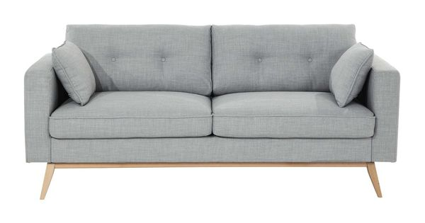 Sofa 3 sitzer aus stoff taupe brooke grau pinterest for Sofa abel 3 cuerpos tela taupe
