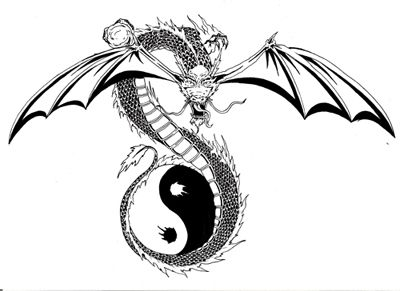 Black And White Dragon Tattoos Yin Yang Dragon 01 Black And White Tattoo Design Art Flash Pictures Im Black Art Tattoo Japanese Dragon Tattoo Dragon Tattoo