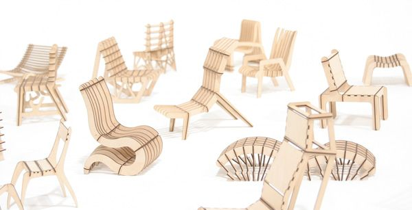 Sketchchair Update 4 Cnc Furniture Plans Cnc Furniture Flat