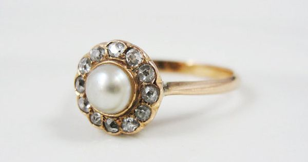Victorian Diamond And Pearl Engagement Ring... Oh My