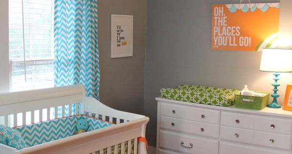 Baby boy nursery color scheme.