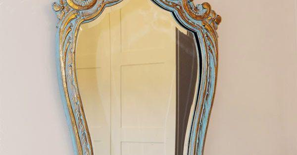 Restauraci n de espejo vintage con chalk paint - Decoracion vintage reciclado ...