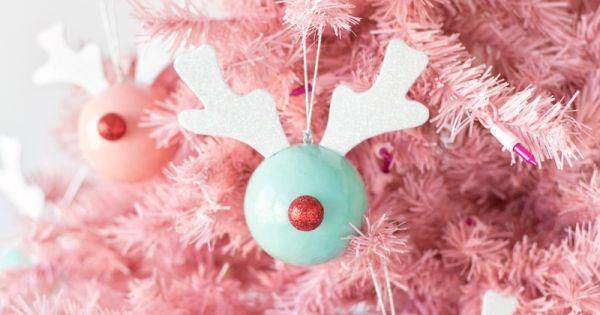 Checa estas hermosas bolas de rudolf para decorar tu - Bolas de navidad para decorar ...