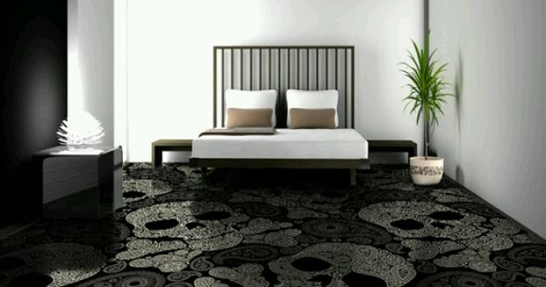 Skull Carpet Wicked Home Decor Pinterest Carpets Skulls And Skull Carpet