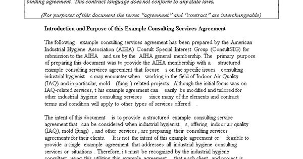 Consulting Agreement - Freelance Agreement templates Pinterest - consulting agreement in pdf