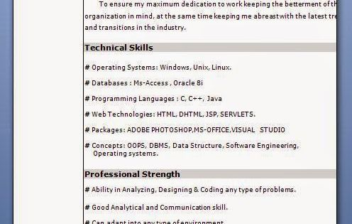 good resume samples Sample Template Example of ExcellentCV - j2ee jsp resume