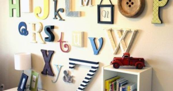 Alphabet wall decor for the kids rooms