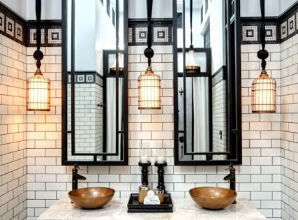 deco / chinoiserie feel. i could live without those basins but some