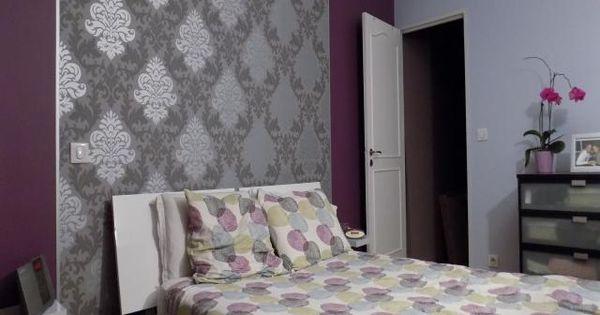 Photos d coration de chambre d 39 adulte suite gris violet de bea91 maison pinterest gris - Chambre adulte grise et mauve ...