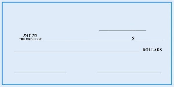 Fillable Blank Check Template Free Download Blank Check Word Template Words