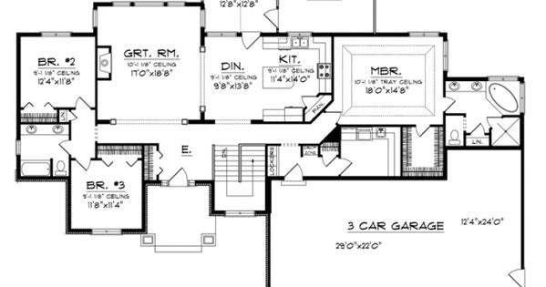 This i love separate laundry room lots of room in the for House plans with separate kitchen
